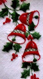 vintage christmas bells hanky