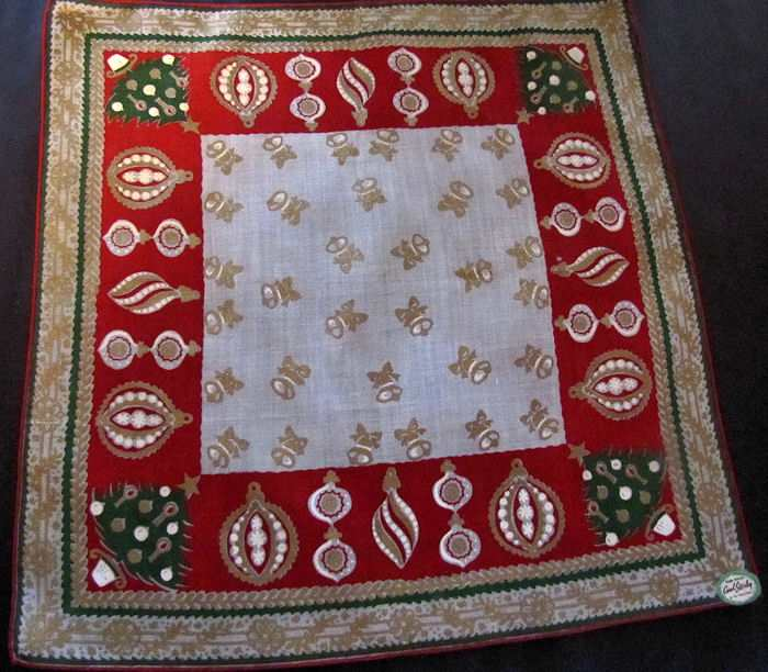 vintage antique christmas hanky