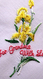 vintage embroidered hanky for Grandma