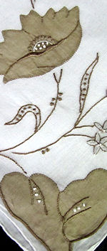 vintage embroidered roses hanky