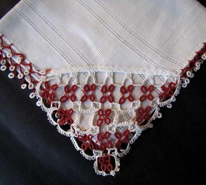 vintage antique irish linen hanky