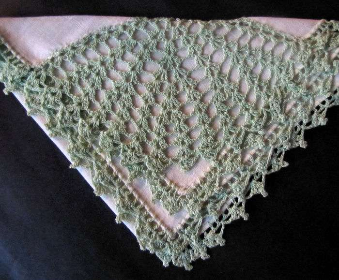vintage antique irish linen hanky