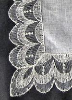 vintage antique wedding brides hanky Limerick lace