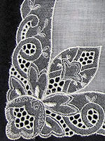 vintage antique wedding brides hanky Brussels lace