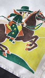 vintage child's children's hanky with cowboy