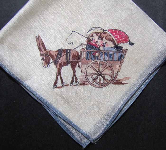 vintage antique child's children's silk hanky