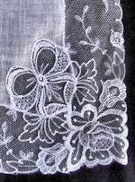 antique wedding brides hanky  limerick lace