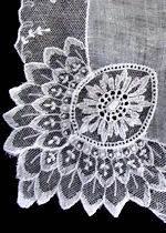 vintage antique wedding hanky Limerick lace