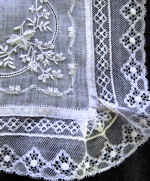 vintage wedding hanky alencon lace