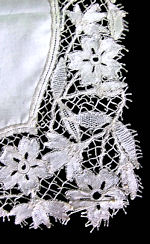 vintage antique wedding brides hanky handmade lace