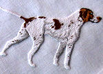 vintage handmade pointer embroidered hanky