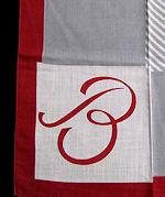vintage irish linen hanky monogrammed J