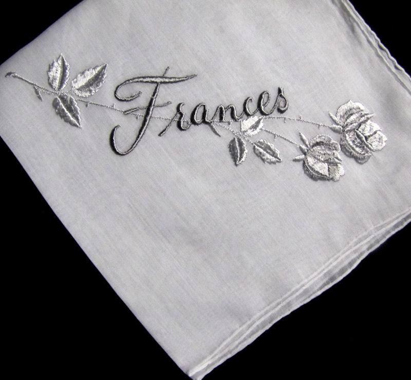 vintage antique monogrammed hanky for Frances