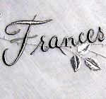 vintage monogrammed Frances hanky