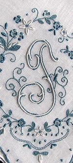 vintage monogrammed T handmade hanky