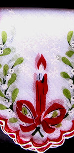 vintage christmas hanky candles