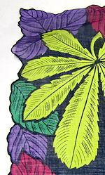 vintage designer hanky leaves