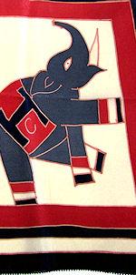 vintage designer hanky H C elephant