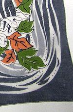 vintage designer hanky falling leaves