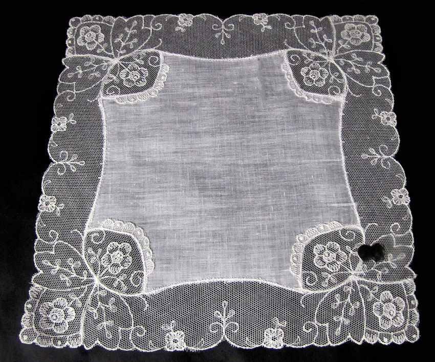 vintage antique wedding brides hanky lace