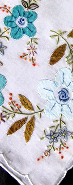 vintage handmade embroidered hanky