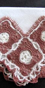 vintage irish linen handmade lace hanky