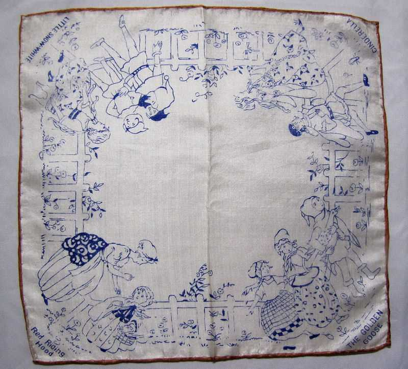 vintage antique child's children's silk hanky