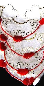 vintage valentine hanky gold hearts