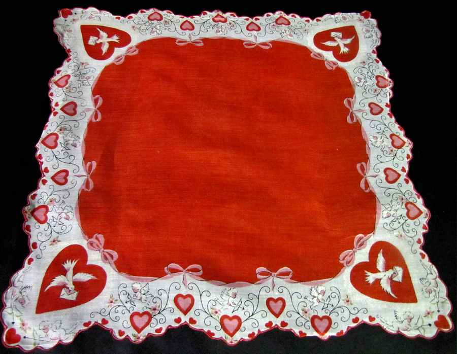 vintage antique valentine hanky