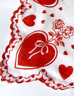 vintage hearts print valentine hanky