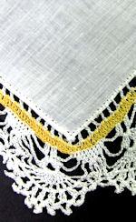 vintage antique irish linen hanky handmade crochet lace
