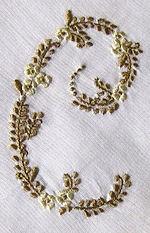 vintage Handmade hanky monogrammed  c