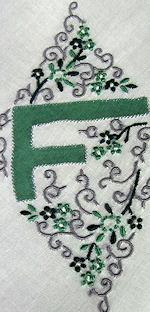 vintage hanky monogrammed F