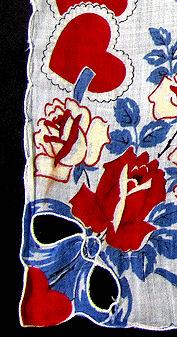 vintage valentine hanky embroidered hearts