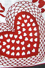 vintage hearts valentine hanky
