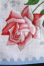 vintage hanky floral print roses