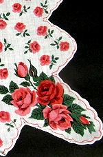 vintage floral print hanky roses