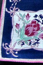 vintage floral print hanky flower basket