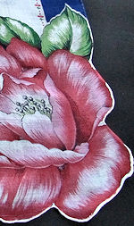 vintage hanky floral print single blossom