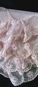 vintage antique wedding bridesmaid hanky pink
