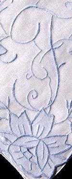 vintage handmade  hanky monogrammed S