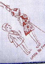 vintage childs hanky nursery rhymes