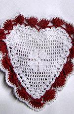 vintage antique itidh linrn handmade lace valentine hanky