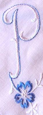 vintage hanky monogrammed P