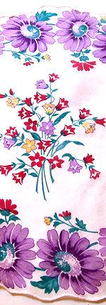 vintage hanky round floral print