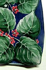 vintage floral print hanky leaves