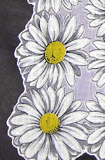 vintage floral print hanky daisies