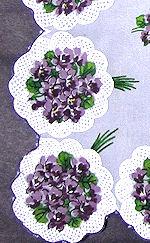 vintage floral print hanky violets