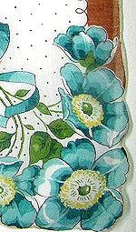 vintage floral print hanky