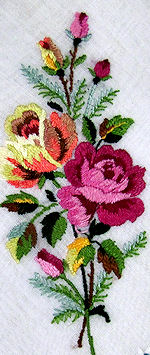 vintage roses hanky